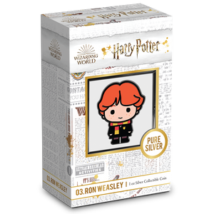 Chibi™ Coin Collection HARRY POTTER™ Series – RON WEASLEY™ 1oz Silver Coin Packaging & Certificate of Authenticity