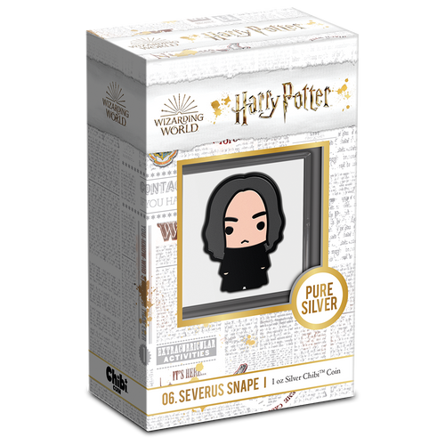 Chibi™ Coin Collection HARRY POTTER™ Series – SEVERUS SNAPE™ 1oz Silver Coin Packaging & Certificate of Authenticity