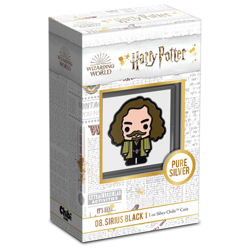 Chibi™ Coin Collection HARRY POTTER™ Series – SIRIUS BLACK™ 1oz Silver Coin Packaing and Certificate of Authenticity