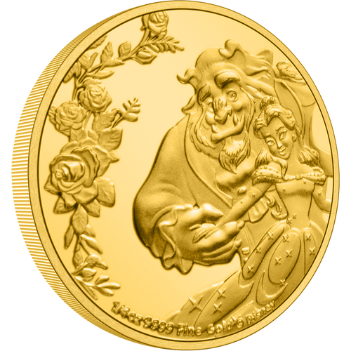 Beauty and the Beast Minted 30th Anniversary 1/4oz Gold Coin | NZ Mint Gold Collectibles
