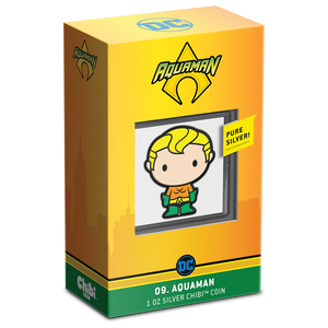 Chibi™ Coin Collection DC Comics Series – AQUAMAN™ 1oz Silver Coin Packaging