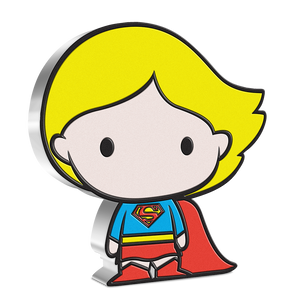 SUPERGIRL first appeared in Action Comics #252in May 1959, and now in 2021, she has her own Chibi™ Coin. This unique collectible has been shaped and coloured to resemble the Chibi version of the Girl of Steel in her classic costume and is made from 1oz of pure silver. NZ Mint