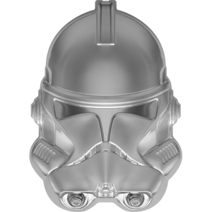 Star Wars™ Clone Trooper™ Helmet Ultra High Relief 2oz Silver Coin Front View
