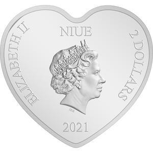 Ian Rank-Broadley Effigy of Queen Elizabeth II $2 Niue 2021 Obverse