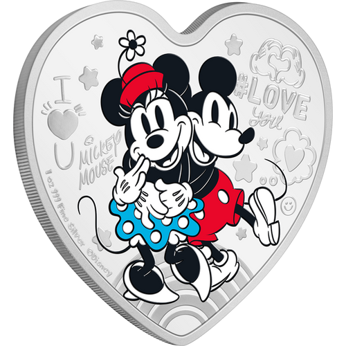 Disney Love 2021 – Ultimate Couple 1oz Silver Coin NZ Mint