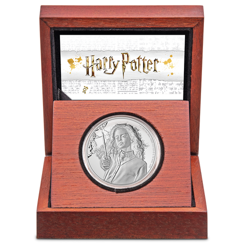 HARRY POTTER™ Classic - Hermione Granger™ 1oz Silver Coin in Display Box