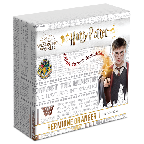 HARRY POTTER™ Classic - Hermione Granger™ 1oz Silver Coin Outer Box