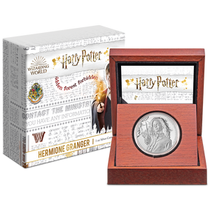 HARRY POTTER™ Classic - Hermione Granger™ 1oz Silver Coin Display Packaging