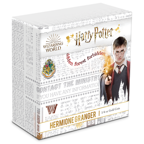 HARRY POTTER™ Classic - Hermione Granger™ ¼oz Gold Coin Packaging
