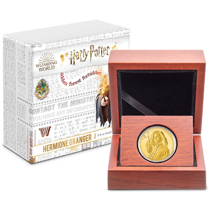 HARRY POTTER™ Classic - Hermione Granger™ ¼oz Gold Coin Display Packaging
