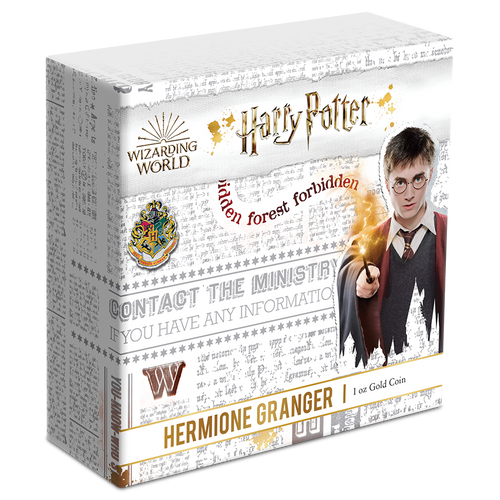 HARRY POTTER™ Classic - Hermione Granger™ 1oz Gold Coin Outer Box