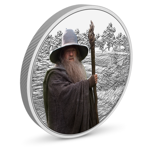 THE LORD OF THE RINGS™ – Gandalf the Grey 1oz Silver Coin with Milled Edge