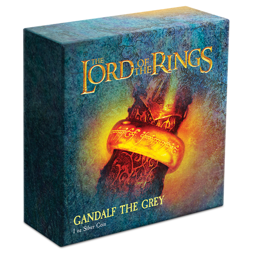 THE LORD OF THE RINGS™ – Gandalf the Grey 1oz Silver Coin Display Both Featuring 'The Ring'