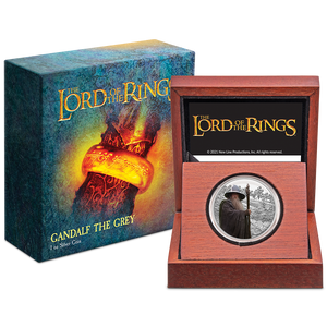 THE LORD OF THE RINGS™ – Gandalf the Grey 1oz Silver Coin in Display Packaging