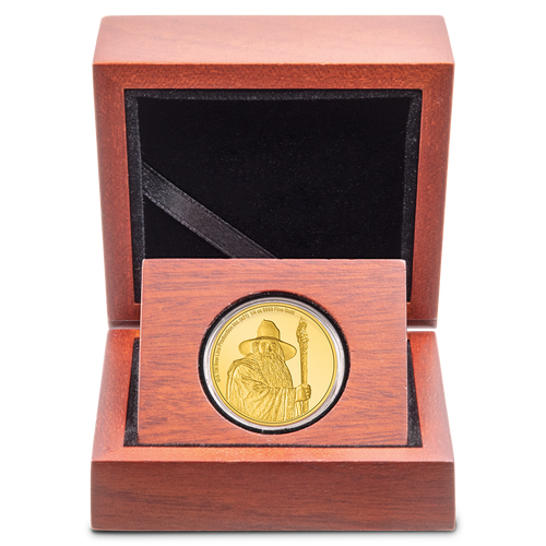 THE LORD OF THE RINGS™ - Gandalf the Grey 1/4oz Gold Coin Wooden Display Box with Display Insert
