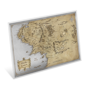 THE LORD OF THE RINGS™ - Middle Earth™ 35g Premium Silver Foil Map