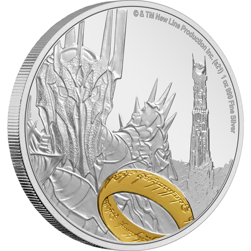 THE LORD OF THE RINGS™ – Sauron 1oz Silver Coin | NZ Mint