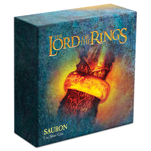 THE LORD OF THE RINGS™ – Sauron 1oz Silver Coin Box