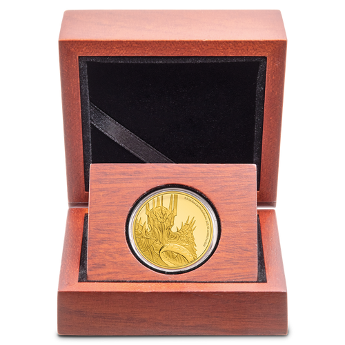 THE LORD OF THE RINGS™ - Sauron 1/4oz Gold Coin Display