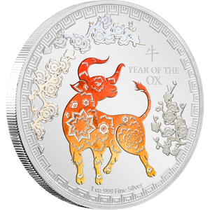 Lunar Year of the Ox 1oz Silver Coin NZ Mint