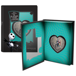 Disney – The Nightmare Before Christmas Love is Eternal 1oz Silver Coin Display Packaging
