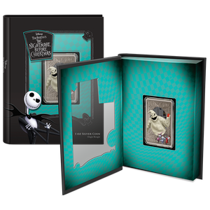 Disney – The Nightmare Before Christmas Oogie Boogie 1oz Silver Coin Display in Booklet Style Packaging