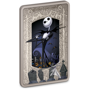 The Nightmare Before Christmas Jack Skellington 1oz Silver Coin | NZ Mint