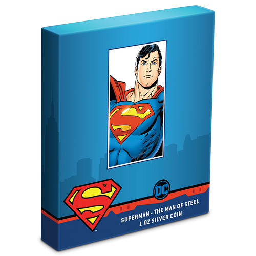 SUPERMAN™ - The Man of Steel 1oz Silver Coin Box