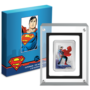 SUPERMAN™ - The Man of Steel 1oz Silver Coin in Perspex Display Packaging