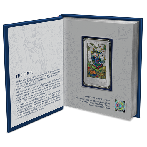 Tarot Cards – The Fool 1oz Silver Coin Display Book
