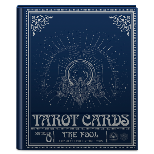Tarot Cards – The Fool 1oz Silver Coin Book Cover