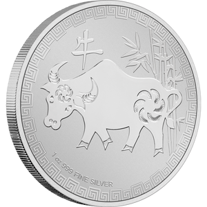1oz Silver Bullion Coin Year Of The Ox Niue 2021 NZ Mint