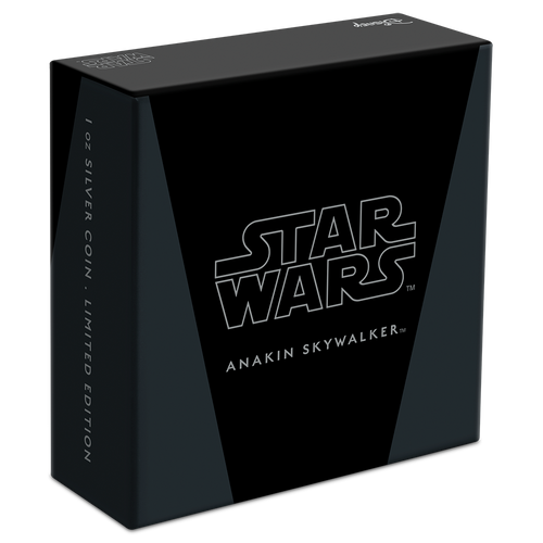 Star Wars Classic: Anakin Skywalker™ 1oz Silver Coin in Display Box