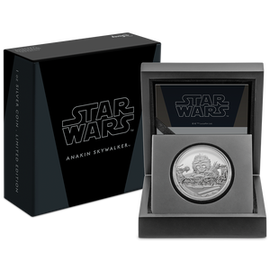 Star Wars Classic: Anakin Skywalker™ 1oz Silver Coin in Display Packaging with Ledge
