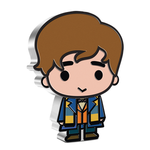 Our FANTASTIC BEASTS™ Chibi™ Collectible Coin Series commences with the famous Magizoologist, Newt Scamander. The coin is made from 1oz of pure silver and features his unkempt hair and iconic attire of blue coat, brown vest and bow tie. His Hufflepuff scarf that he occasionally wore and can also be seen. NZ Mint