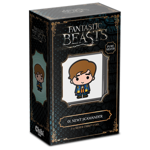 Chibi™ Coin Collection FANTASTIC BEASTS™ Series – Newt Scamander 1oz Silver Coin Display Packaging