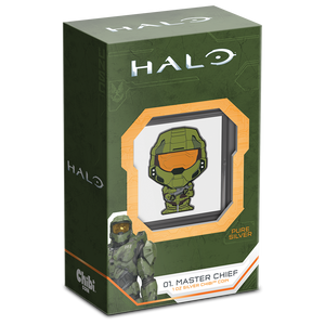 Chibi™ Coin Collection Halo – Master Chief 1oz Silver Coin Display Box and Certificate of Authenticity