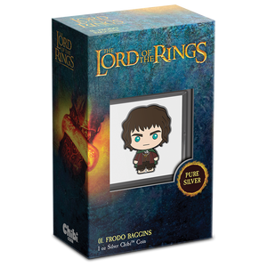 Chibi™ Coin Collection THE LORD OF THE RINGS™ Series – Frodo Baggins 1oz Silver Coin Packaing with Certificate of Authenticity
