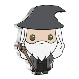Naturally, wise wizard, Gandalf the Grey, features in our THE LORD OF THE RINGS™ Chibi™ Coin Series. Officially licensed 1oz silver collectible coin features beloved Gandalf in his grey cloak and drooping hat, and carrying his magical staff.