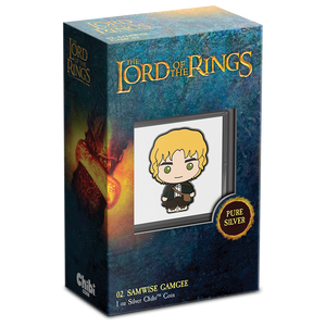 Chibi™ Coin Collection THE LORD OF THE RINGS™ Series – Samwise Gamgee 1oz Silver Coin Packaging + Certificate of Authenticity