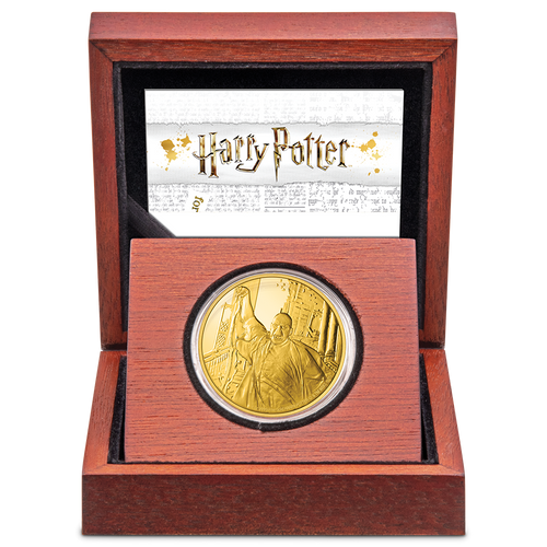 HARRY POTTER™ Classic - Lord Voldemort 1oz Gold Coin Packaging