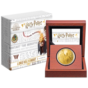 HARRY POTTER™ Classic - Lord Voldemort 1oz Gold Coin Display Box