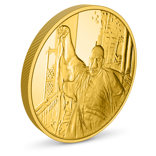 HARRY POTTER™ Classic - Lord Voldemort 1oz Gold Coin Top Edge