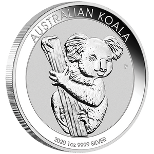 1oz Silver Bullion Coin featuring Koala Perth Mint