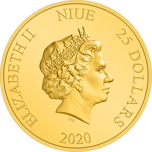 Ian Rank-Broadley Effigy of Queen Elizabeth II $25 Niue 2020 Obverse
