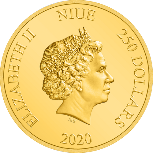 Ian Rank-Broadley Effigy of Queen Elizabeth II $250 Niue 2020 Obverse