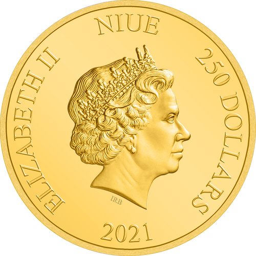 Ian Rank-Broadley Effigy of Queen Elizabeth II $250 Niue 2021 Obverse