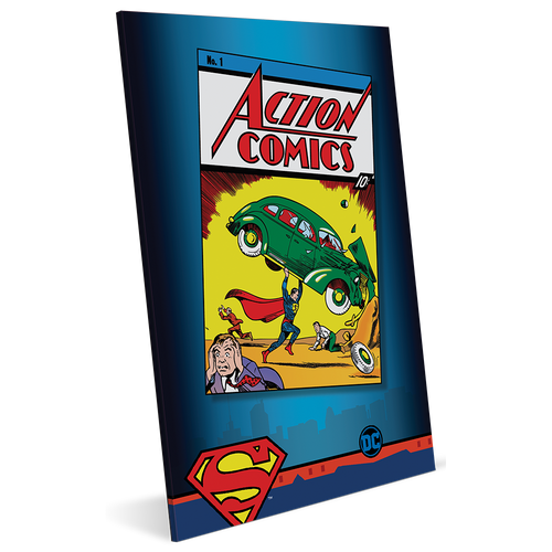 Action Comics #1 35g Pure Silver Foil Packaging