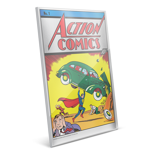 Action Comics #1 35g Pure Silver Foil Perspex