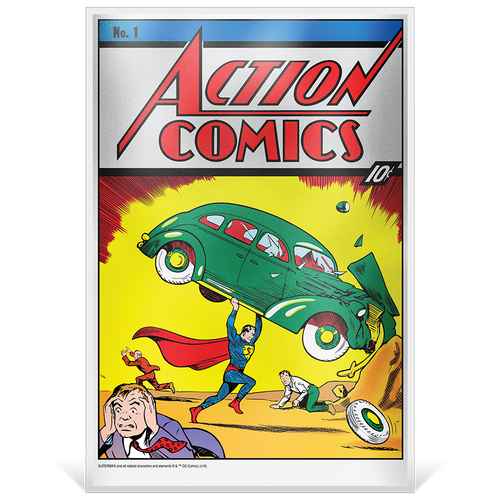 Action Comics #1 35g Pure Silver Foil Base
